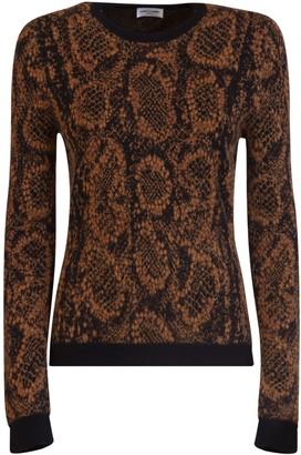 Saint Laurent Snake Pattern Sweater
