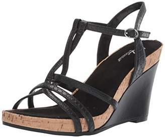 Aerosoles A2 Women's Plushed Nickel Wedge Sandal M US