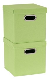 Household Essentials 2-Pc. Apple Heather Storage Box Set