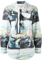 Burberry printed shirt - women - Cotton/Spandex/Elastane - 8