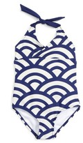 Tea Collection Toddler Girl's Tidal One-Piece Swimsuit