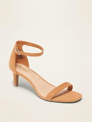 Old Navy Faux-Suede Kitten-Heel Sandals for Women