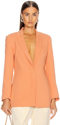 Jonathan Simkhai Patch Pocket Boyfriend Blazer in Sedona | FWRD