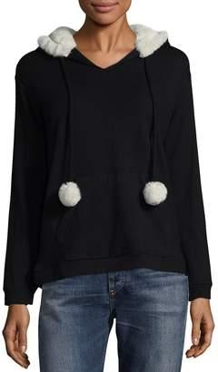 Tess Elliott Studio Faux Fur Pullover Hoodie
