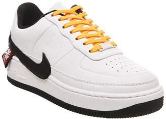 Nike Force 1 Jester Trainers White Black Laser Orange Joker