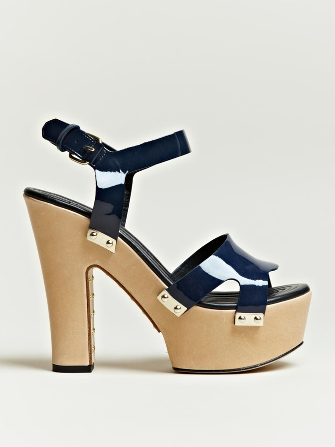 Givenchy Women's Patent Platform Sandals