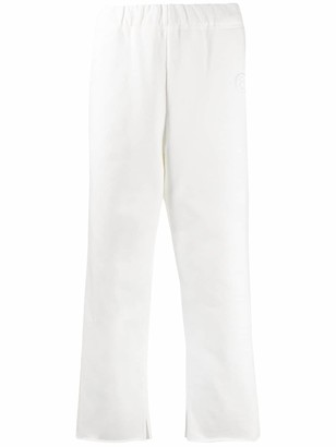MM6 MAISON MARGIELA Embroidered Logo Cropped Trousers