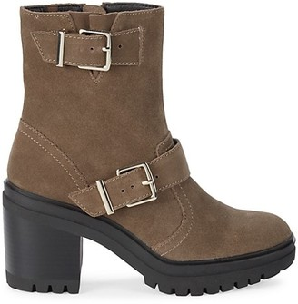 Kenneth Cole New York Ronnie Suede Heeled Boots