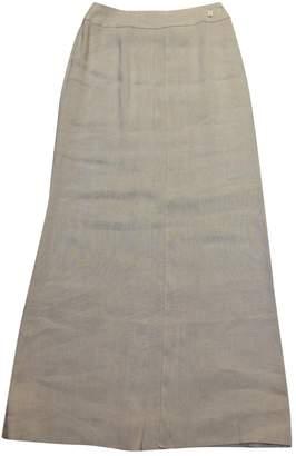 Chanel Beige Linen Skirts