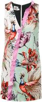Fausto Puglisi floral contrast dress - women - Silk/Spandex/Elastane/Viscose - 38