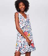 LOFT Petite Flowerbed Flutter Swing Dress