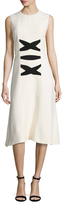 Balenciaga Criss Cross Bodice A Line Dress