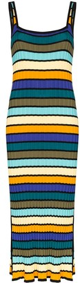 Solid & Striped Striped Ribbed Knit Dress