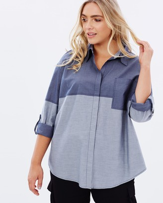Advocado Plus Avery Contrast Yoke Shirt