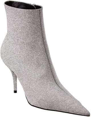Balenciaga Knife Glitter Leather Bootie
