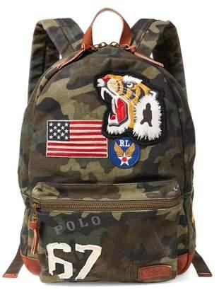 Ralph Lauren Camo Canvas Backpack