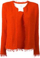 IRO fringe hem jacket - women - Cotton/Polyamide - 36