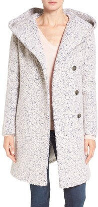 Cole Haan Hooded Boucle Coat