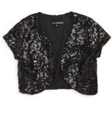 Girl's Miss Behave Caitlin Sequin Bolero Jacket
