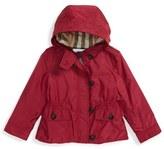 Burberry 'Karen' Hooded Nylon Jacket (Toddler Girls)