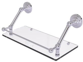 Q.U.E Allied Brass Prestige New 18 Inch Floating Glass Shelf with Gallery Rail
