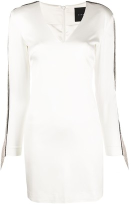 John Richmond Chain Fringe Trim Mini Dress