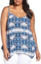 Sejour Plus Size Women's Handkerchief Hem Camisole