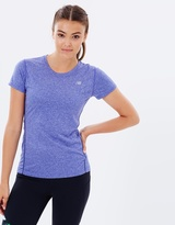 New Balance Heathered Short Sleeve Tee