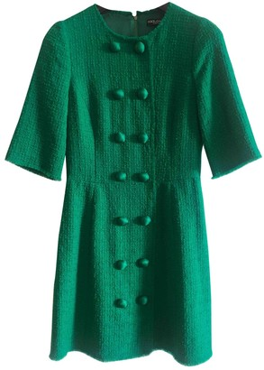 Dolce & Gabbana Green Wool Dresses