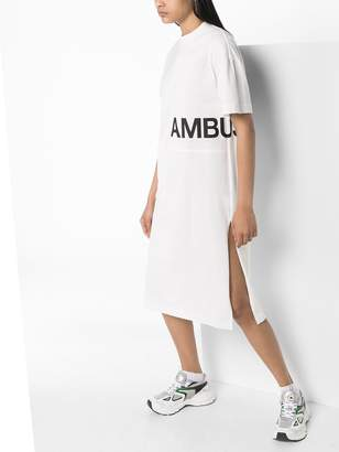 Ambush AMBSH CRW NK SHRT SLVE SD SPLT MIDI DRSS