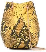 THE VOLON snakeskin-effect shoulder bag