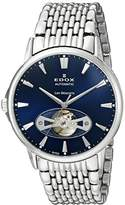 Edox Men's 85021 3M BUIN Les Bemonts Analog Display Swiss Automatic Silver Watch