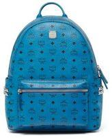 MCM Stark Logo Leather Backpack