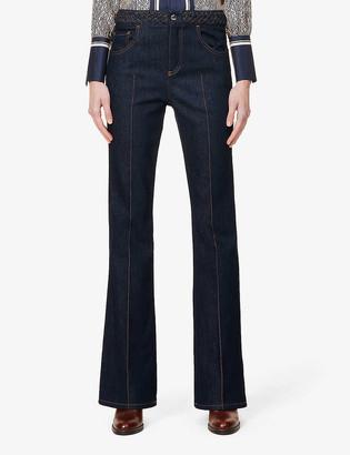Chloé Flared high-rise jeans