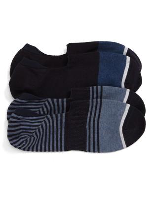 Nordstrom Assorted 2-Pack Stripe Everyday Liner Socks