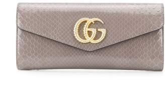Gucci Broadway snakeskin-effect clutch