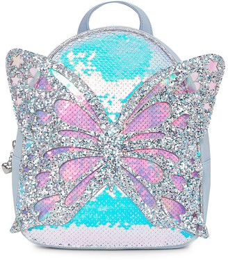 Omg Accessories Girl's Miss Butterfly Sequin & Glitter PVC Backpack