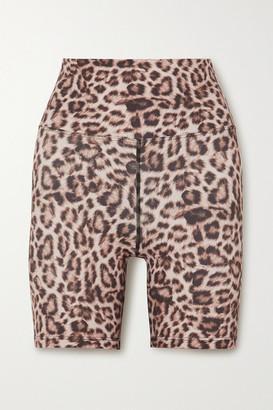 Beach Riot Biker Leopard-print Stretch-jersey Shorts - Leopard print