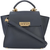 Zac Posen logo print satchel - women - Calf Leather/metal - One Size