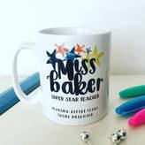 Hendog Designs Personalised Super Star Teacher Mug