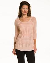 Le Château Open-Stitch Knit Sweater