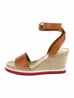 Stella McCartney Vegetarian Wedge Sandals w/ Tags Brown