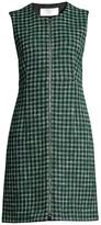 BOSS Darsha Check Cotton Tweed Dress