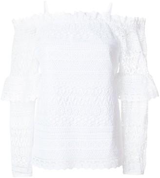 Steffen Schraut Dropped Shoulders Crochet Blouse