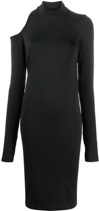 Helmut Lang Cut-Out Shoulder Dress