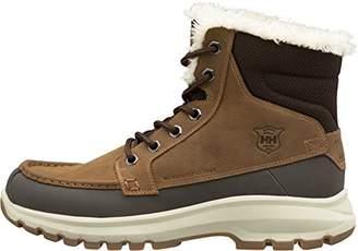 Helly Hansen Men's Garibaldi V3 Waterproof Winter Snow Boot Warm with Grip, Tobacco Brown/Espresso/Natural, 8