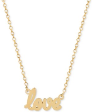 Sarah Chloe Love Adjustable Pendant Necklace in 14k Gold-Plated Sterling Silver