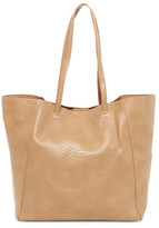 Urban Expressions Rose Snake Embossed Faux Leather Tote