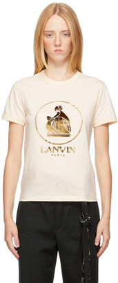 Lanvin Off-White & Gold Mother & Child T-Shirt