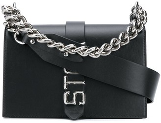 Just Cavalli Chain Handle Logo Cross-Body Bag